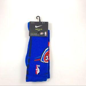Nike Elite Dri-Fit NBA OKC Thunder Socks Size 8-12